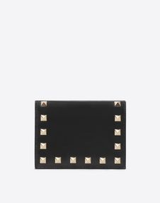 VALENTINO GARAVANI COMPACT WALLETS E Rockstud Compact Wallet f