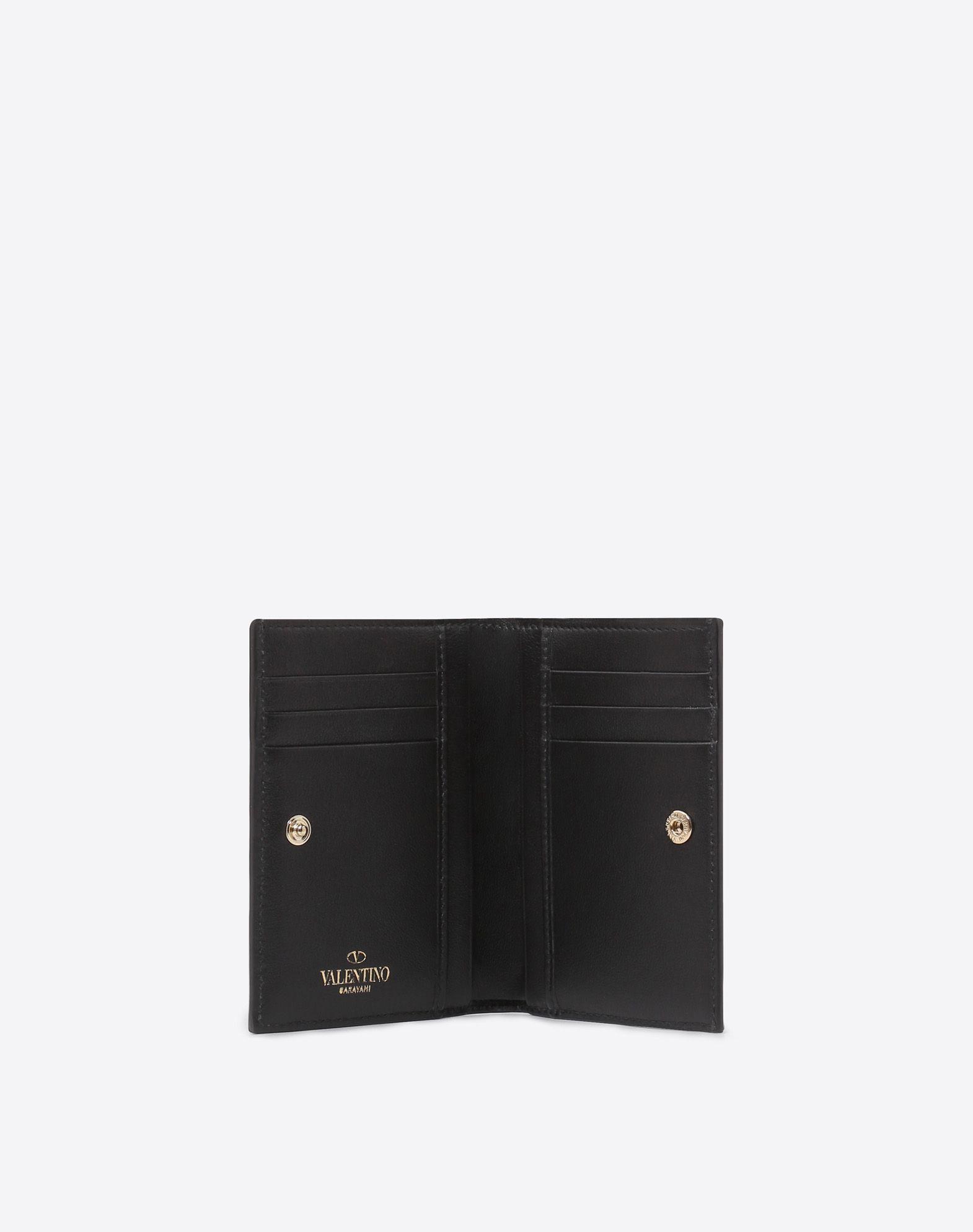 VALENTINO GARAVANI Rockstud Compact Wallet COMPACT WALLETS E a