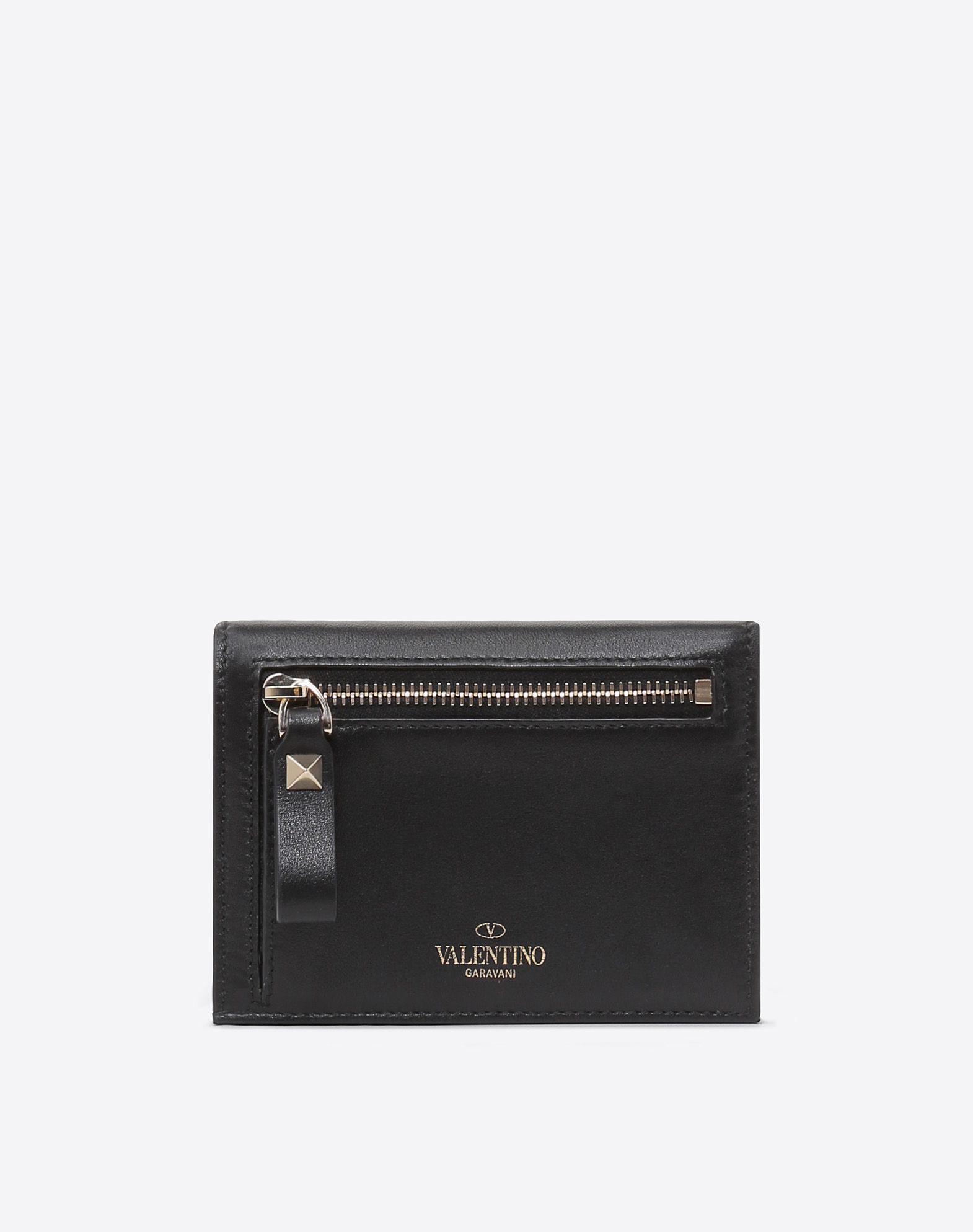 VALENTINO GARAVANI Rockstud Compact Wallet COMPACT WALLETS E d