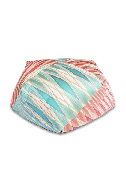 MISSONI HOME VULCANO PUFF IN DIAMANTEN-FORM Elfenbein E - Rückseite