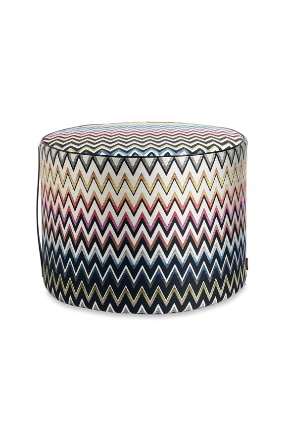MISSONI HOME VERNAL CYLINDER POUF E, Frontal view