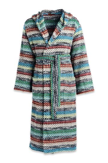 MISSONI HOME Towelling robe E REX HOODED BATHROBE m