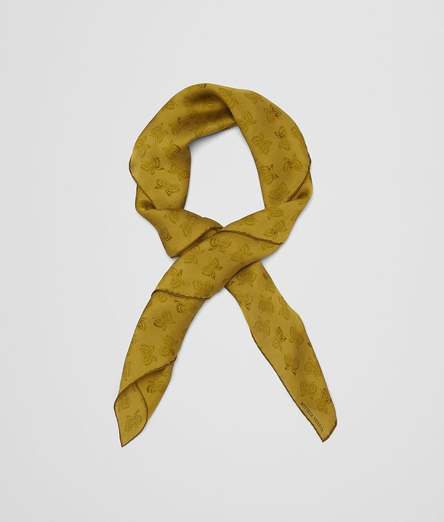 BOTTEGA VENETA GREEN SILK SCARF Scarf [*** pickupInStoreShipping_info ***] fp