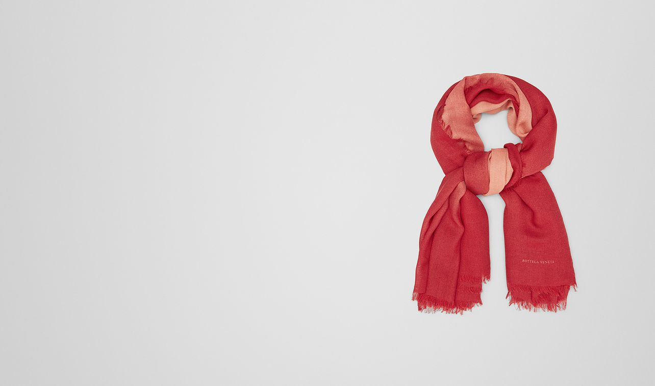 red wool scarf landing