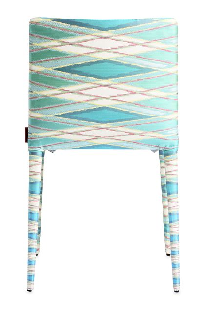 MISSONI HOME MISS CHAISE Bleu d'azur E - Devant