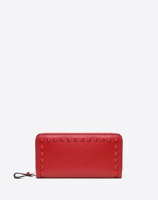 VALENTINO GARAVANI ZIP AROUND WALLETS D Rockstud Zipped Wallet f
