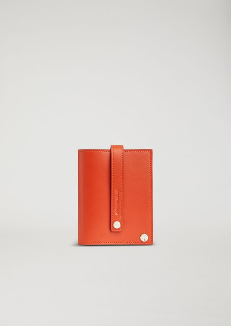 Leather cardholder with inside compartments