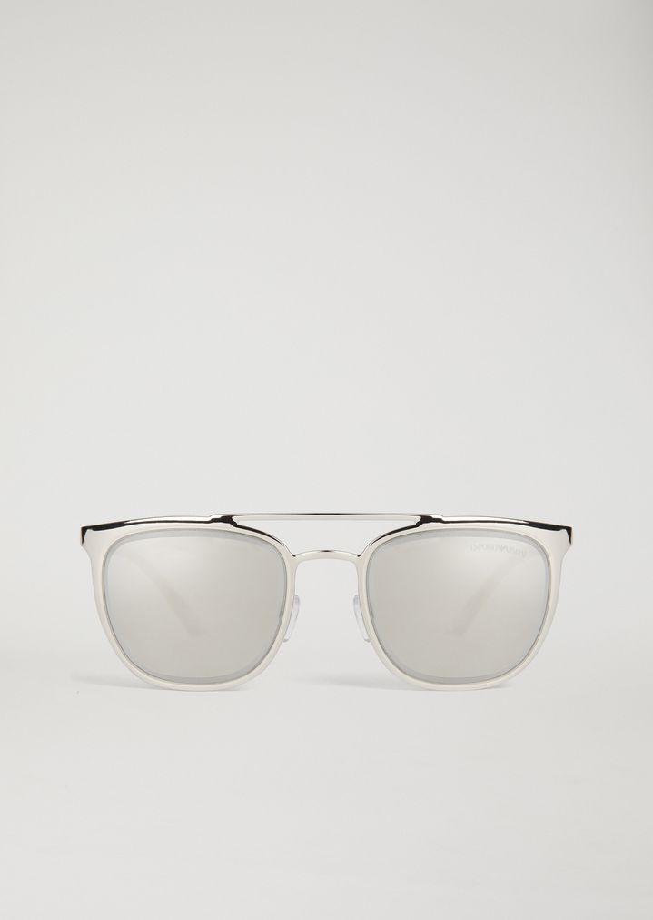 Gafas metálicas con cristales tintados   Hombre   Emporio Armani