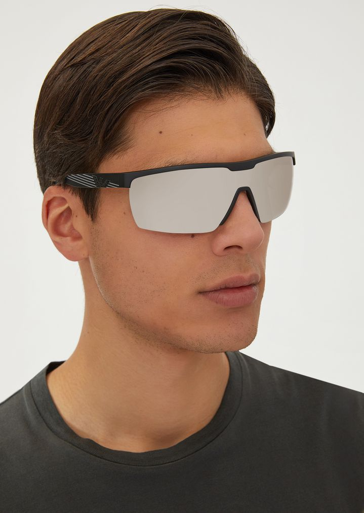 EMPORIO ARMANI Sporty sunglasses with coloured lenses Sunglasses Man a