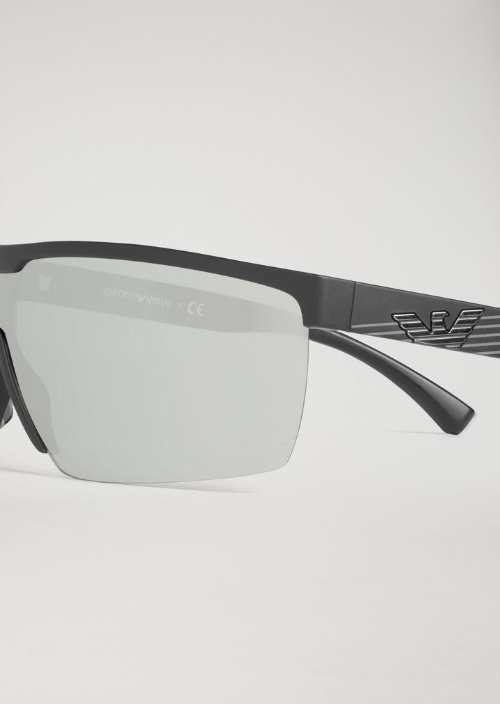 EMPORIO ARMANI Sporty sunglasses with coloured lenses Sunglasses Man d