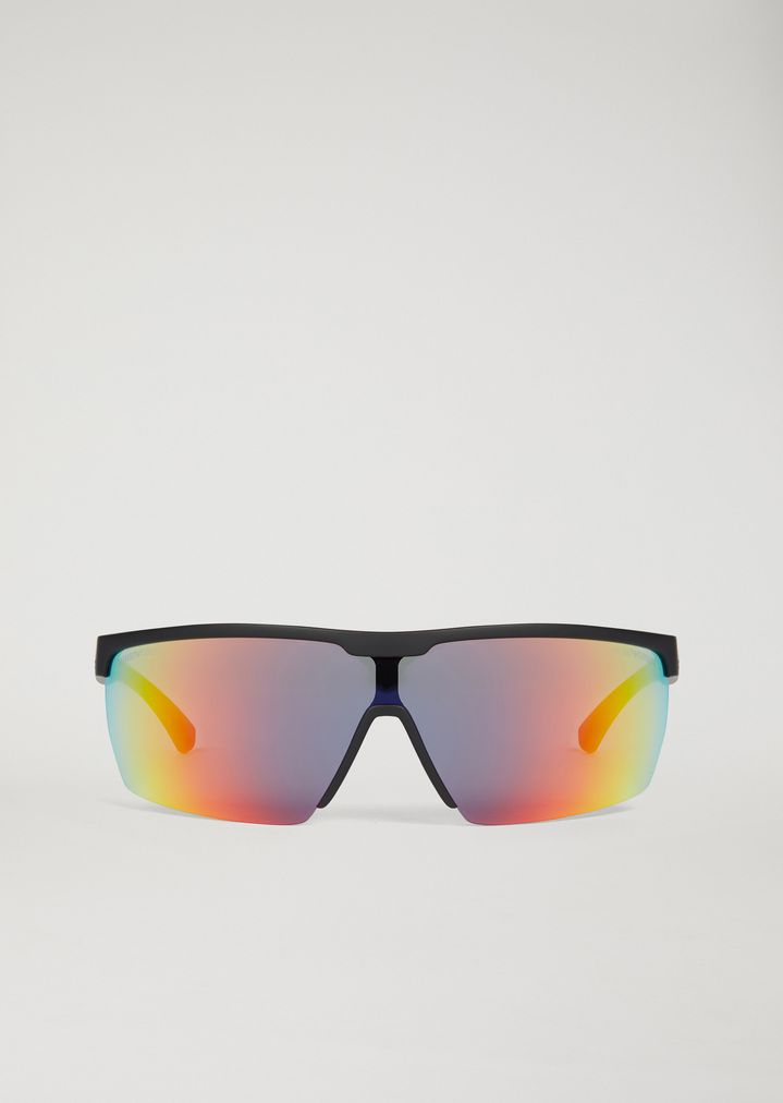 EMPORIO ARMANI Sporty sunglasses with coloured lenses Sun-glasses Man r
