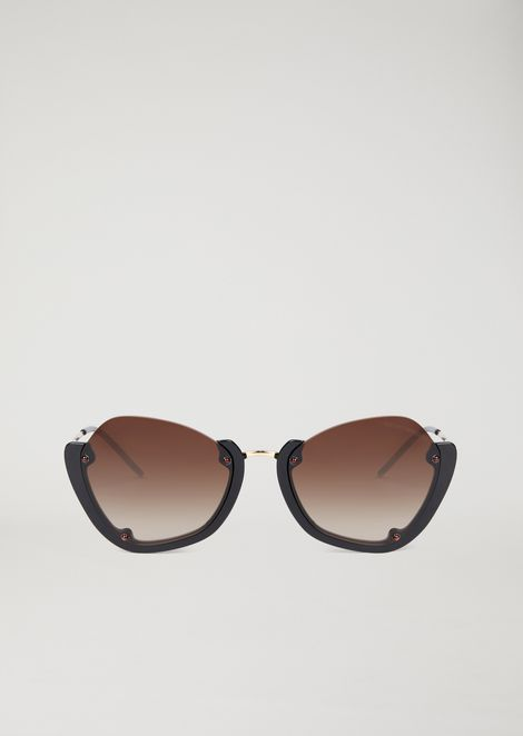 Sunglasses with half frame