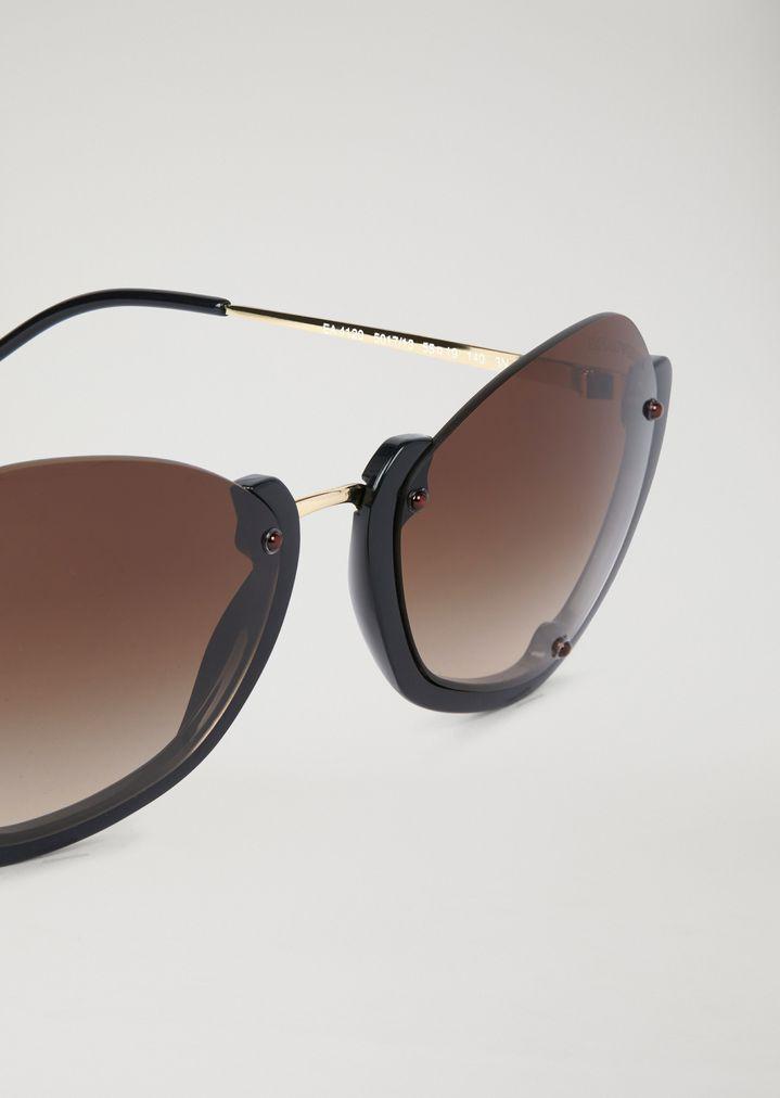 Gafas de sol con montura a la mitad | Mujer | Emporio Armani
