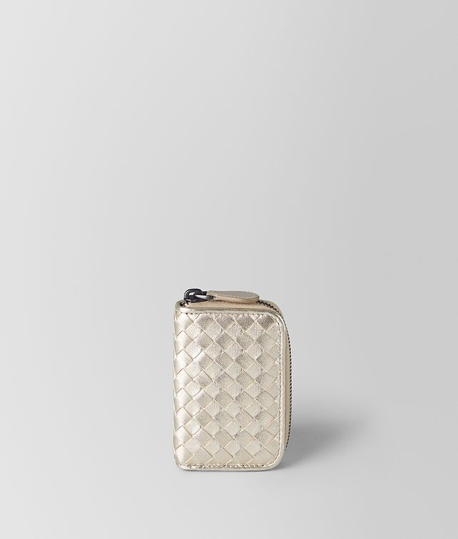 BOTTEGA VENETA PLATINO INTRECCIATO GROS GRAIN COIN PURSE Card Case or Coin Purse [*** pickupInStoreShipping_info ***] fp