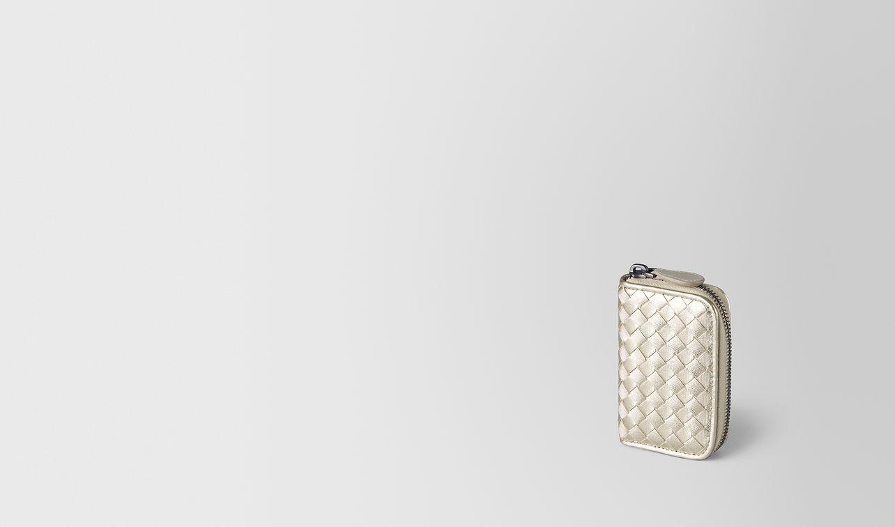 platino intrecciato gros grain coin purse landing