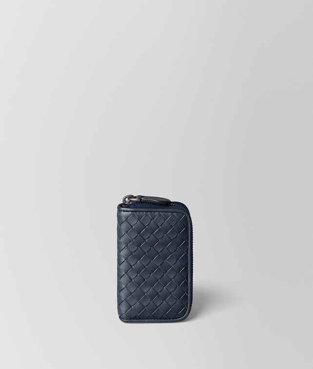 BOTTEGA VENETA DENIM INTRECCIATO VN COIN PURSE Card Case or Coin Purse [*** pickupInStoreShippingNotGuaranteed_info ***] fp