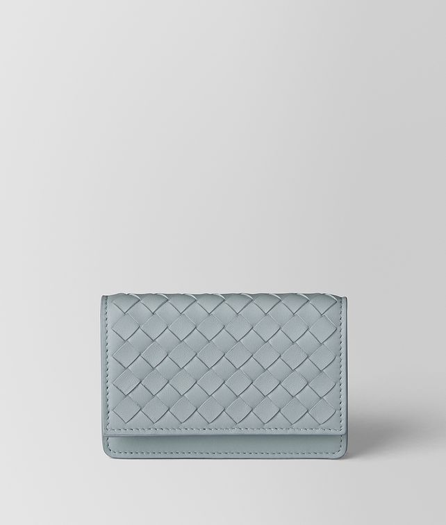 BOTTEGA VENETA ARCTIC INTRECCIATO NAPPA CARD CASE Card Case or Coin Purse E fp