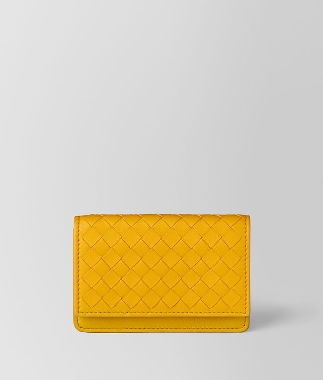BOTTEGA VENETA SUNSET INTRECCIATO NAPPA CARD CASE Card Case or Coin Purse E fp