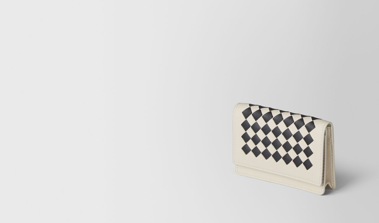mist/nero intrecciato checker card case landing