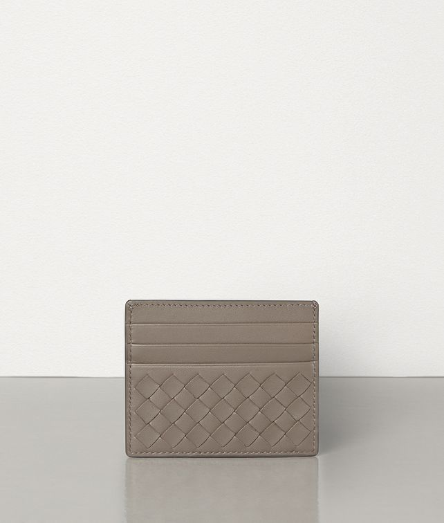 BOTTEGA VENETA LIMESTONE INTRECCIATO NAPPA CARD CASE Card Case or Coin Purse E fp