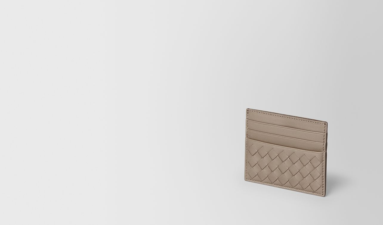porta carte in intrecciato nappa limestone landing