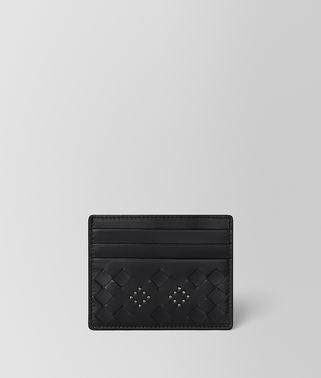 NERO NAPPA MICROSTUDS CARD CASE