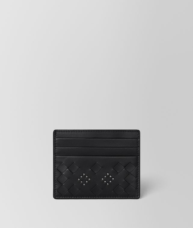 BOTTEGA VENETA NERO NAPPA MICROSTUDS CARD CASE Card Case or Coin Purse E fp