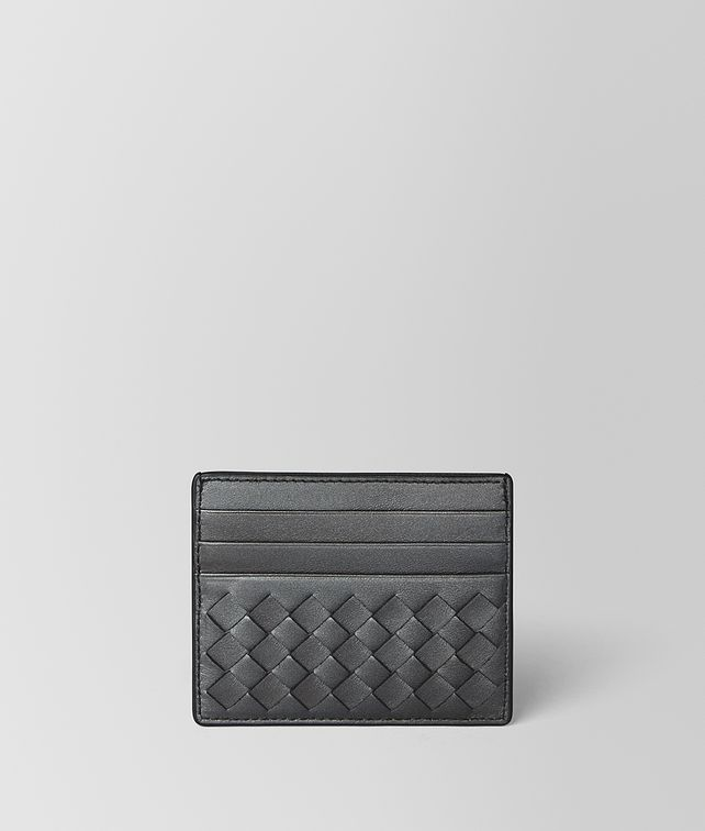 BOTTEGA VENETA ANTIQUE SILVER INTRECCIATO NAPPA CARD CASE Card Case E fp