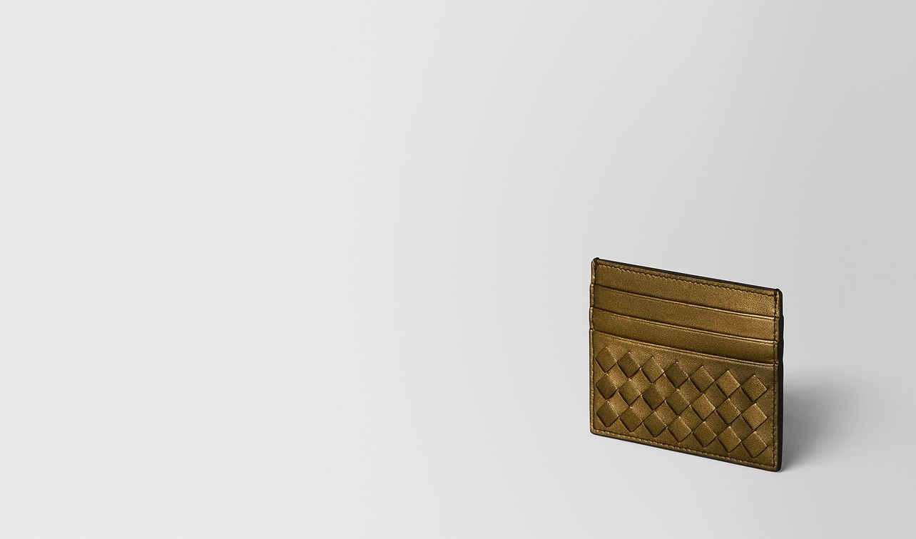 dark gold intrecciato nappa card case landing