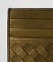 BOTTEGA VENETA DARK GOLD INTRECCIATO NAPPA CARD CASE Card Case or Coin Purse E dp
