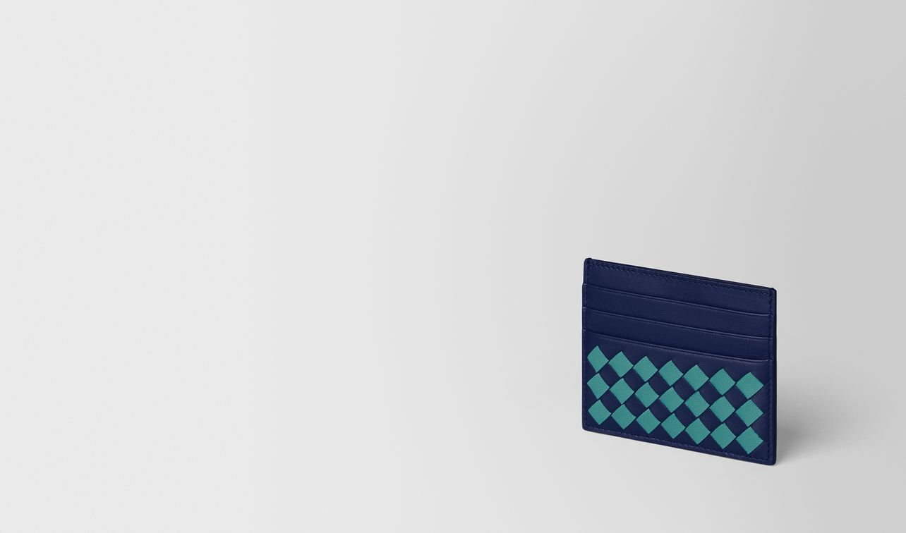 atlantic/aqua intrecciato checker card case landing