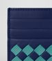 BOTTEGA VENETA ATLANTIC/AQUA INTRECCIATO CHECKER CARD CASE Card Case or Coin Purse E dp