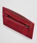 china red intrecciato nappa card case Front Detail Portrait