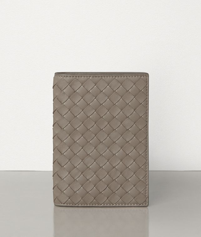 BOTTEGA VENETA LIMESTONE INTRECCIATO NAPPA TRAVEL ACCESSORIES Card Case or Coin Purse E fp