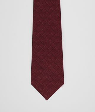 AMARANTH/NERO SILK COTTON TIE