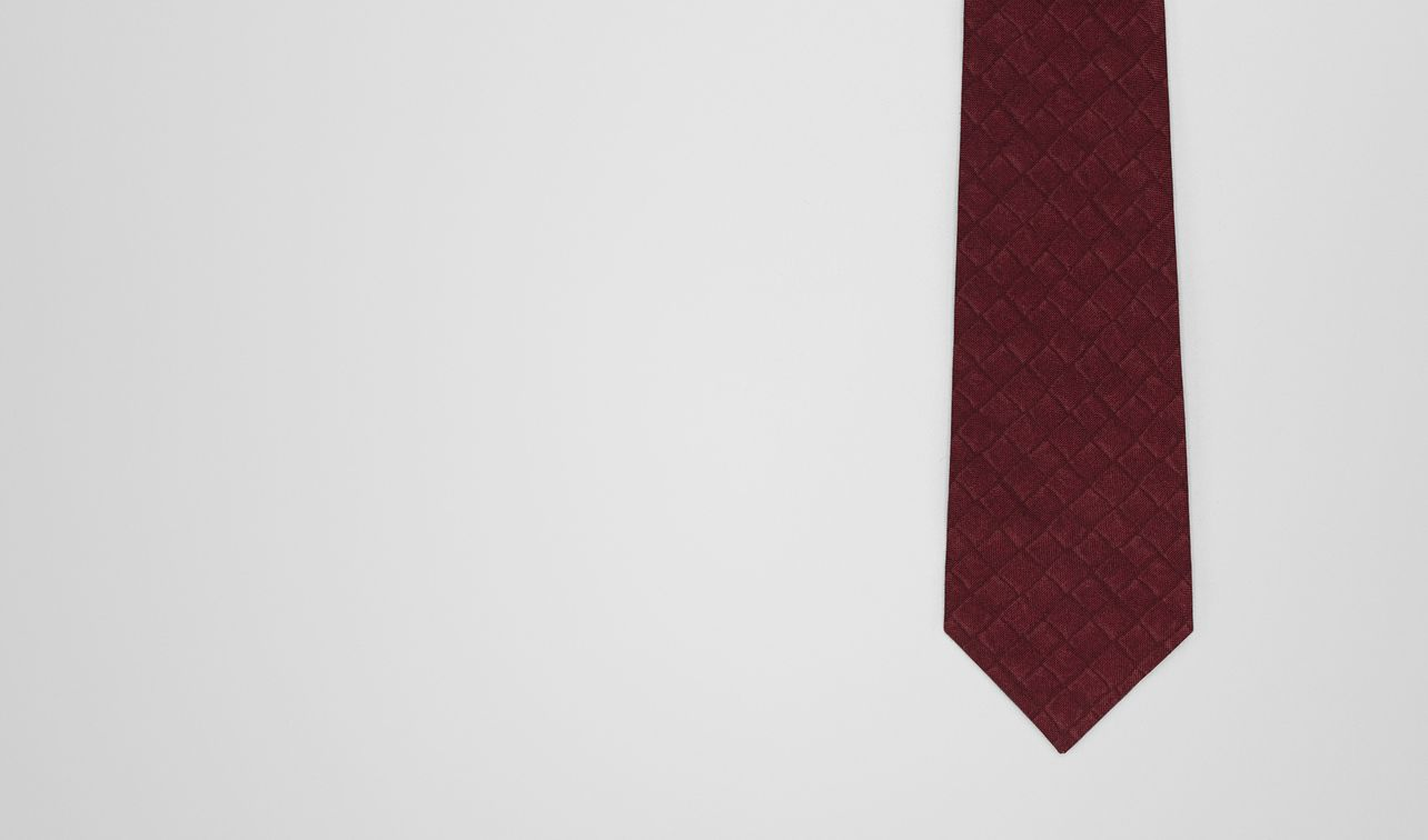 amaranth/nero silk cotton tie landing