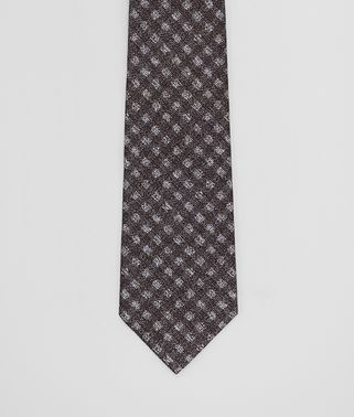 FLANNER/DARK GREY SILK TIE