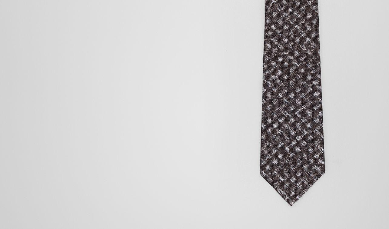 flanner/dark grey silk tie landing