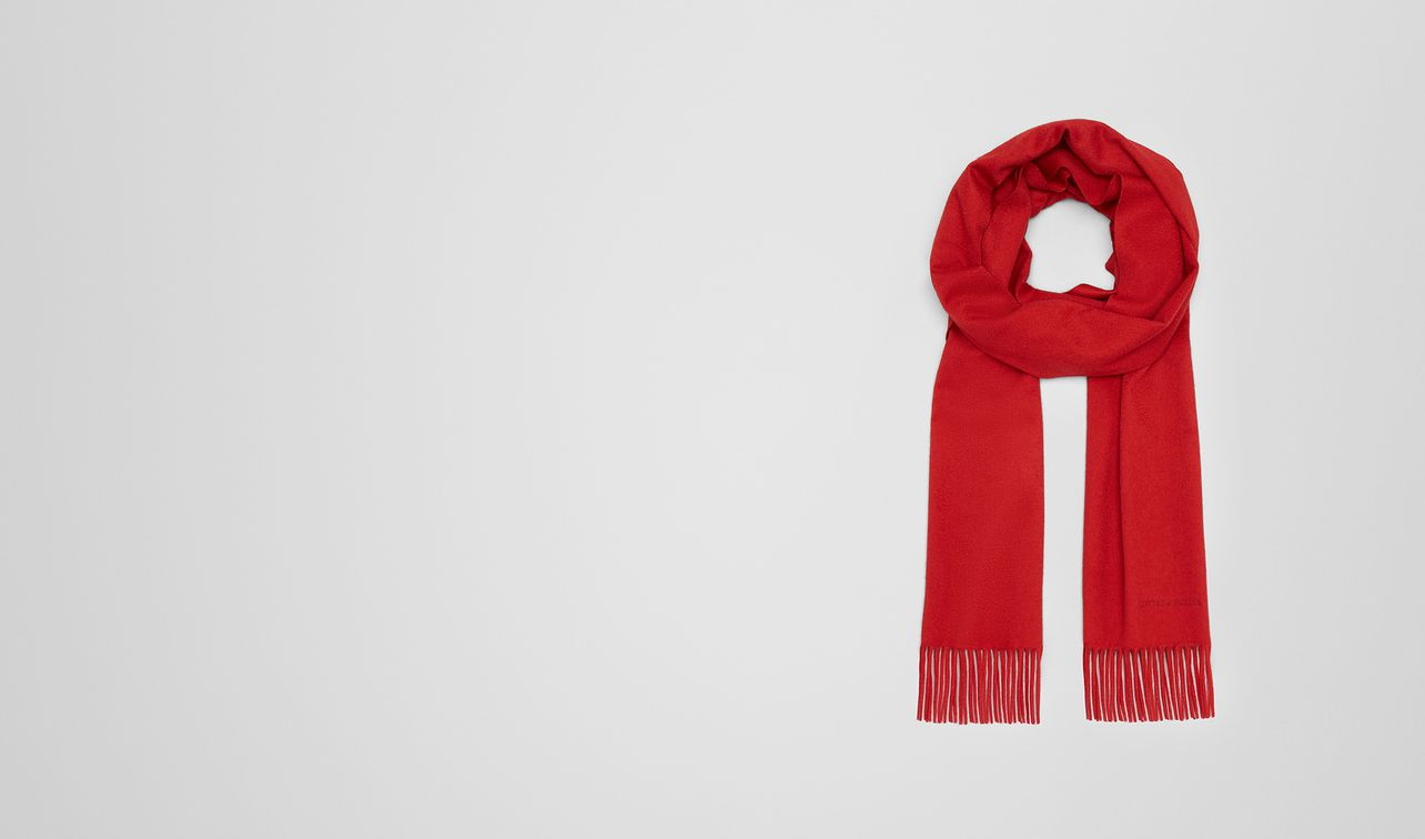 sciarpa in cashmere red landing