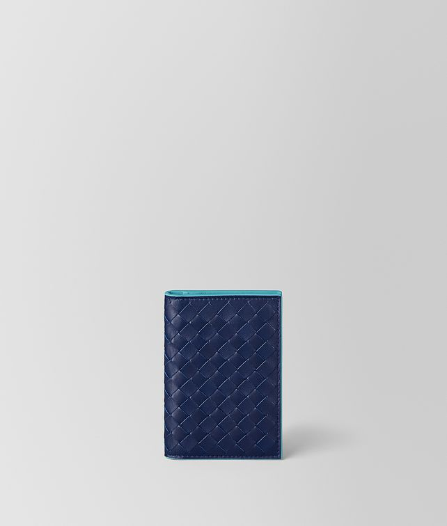 BOTTEGA VENETA ATLANTIC INTRECCIATO VN/AQUA NAPPA CARD CASE Card Case or Coin Purse Man fp