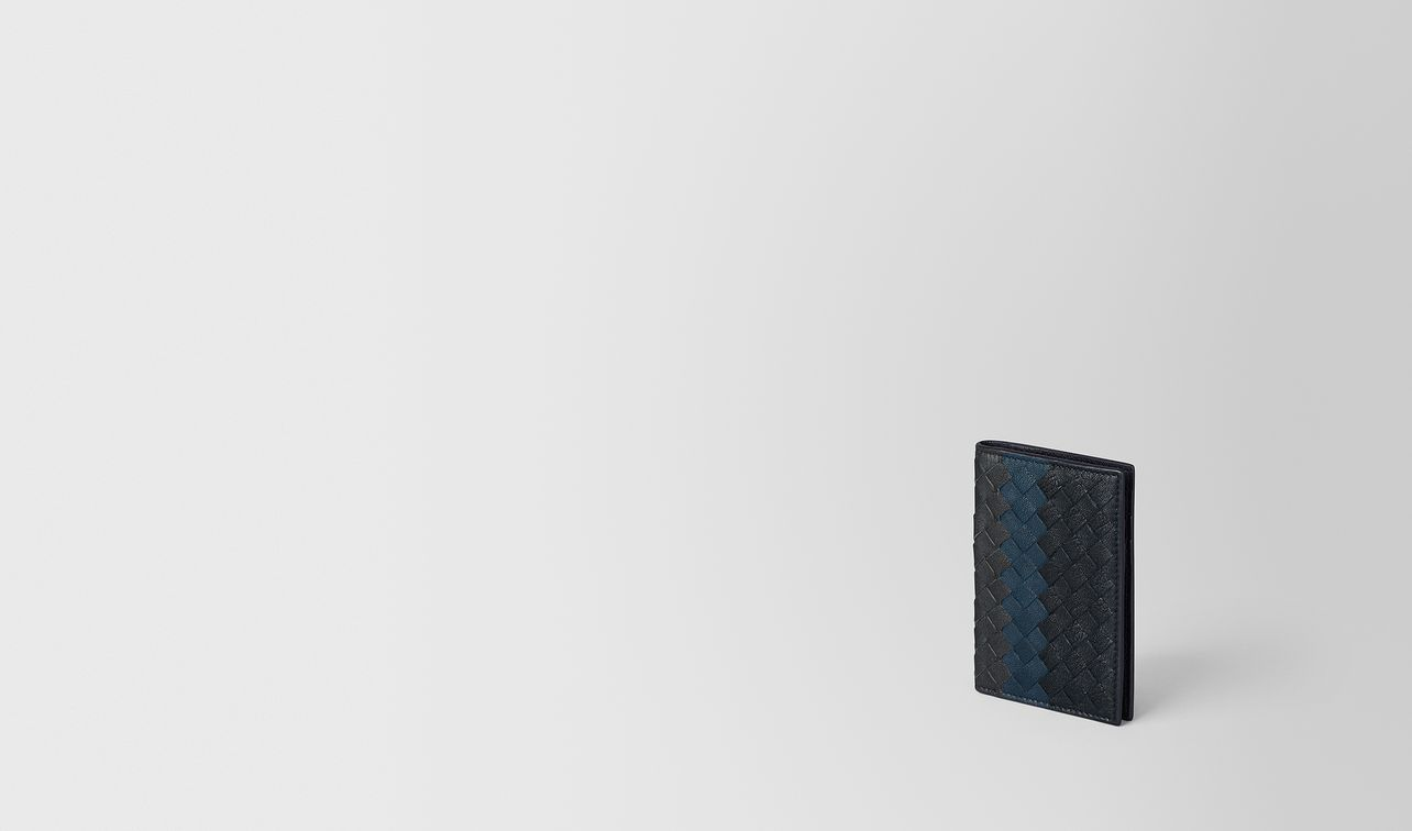 multicolor intrecciato club lamb card case landing