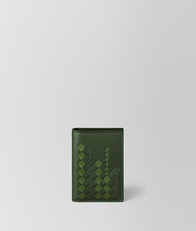 BOTTEGA VENETA FOREST/FERN NAPPA CARD CASE Card Case or Coin Purse [*** pickupInStoreShippingNotGuaranteed_info ***] fp