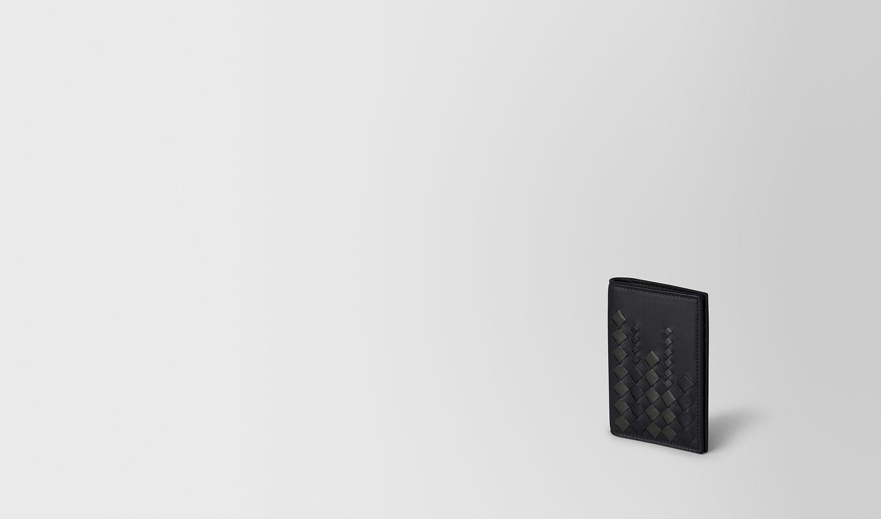 nero/ardoise nappa card case landing