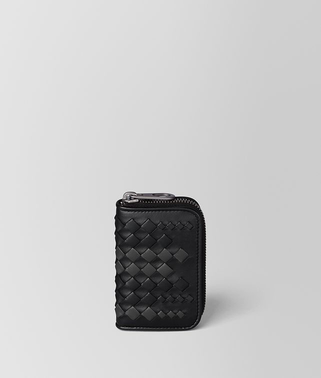 BOTTEGA VENETA NERO/ARDOISE NAPPA COIN PURSE Card Case or Coin Purse [*** pickupInStoreShippingNotGuaranteed_info ***] fp