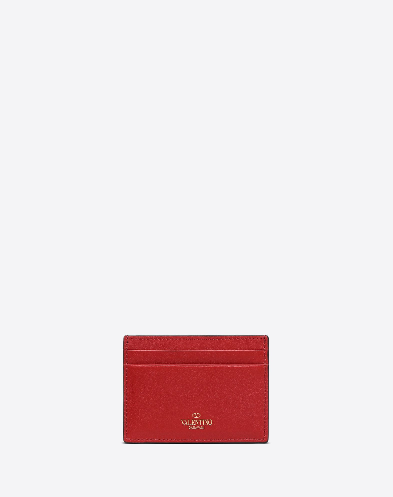 VALENTINO GARAVANI Rockstud Cardholder COIN PURSES & CARD CASES D d