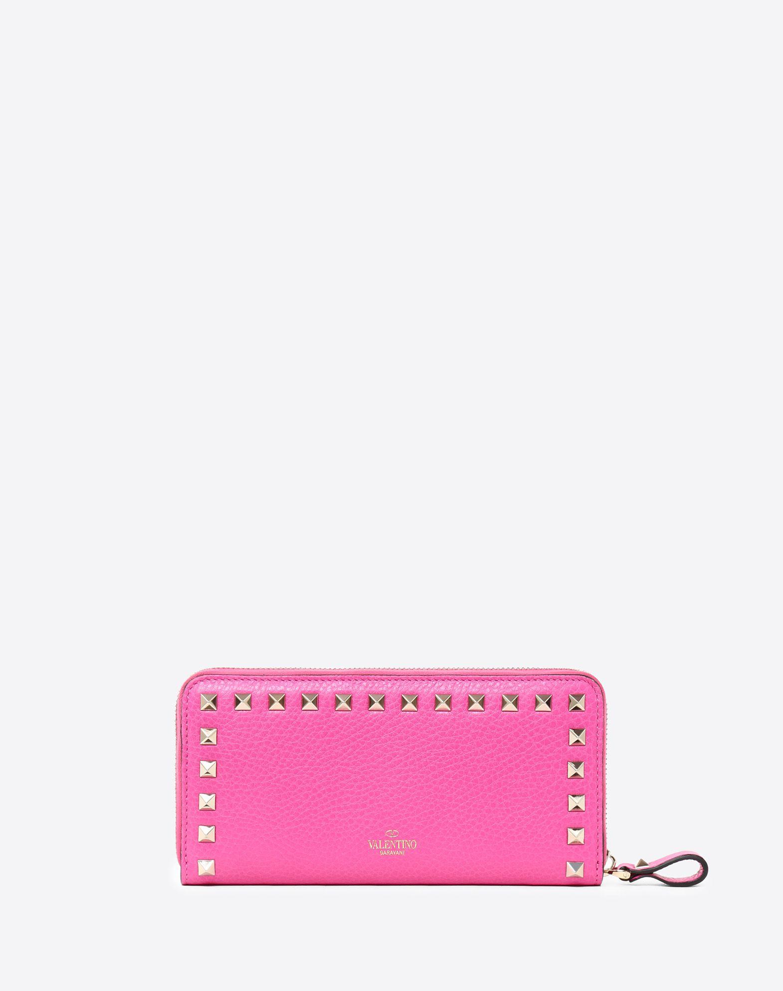 VALENTINO GARAVANI Rockstud Zipped Wallet ZIP AROUND WALLETS D d