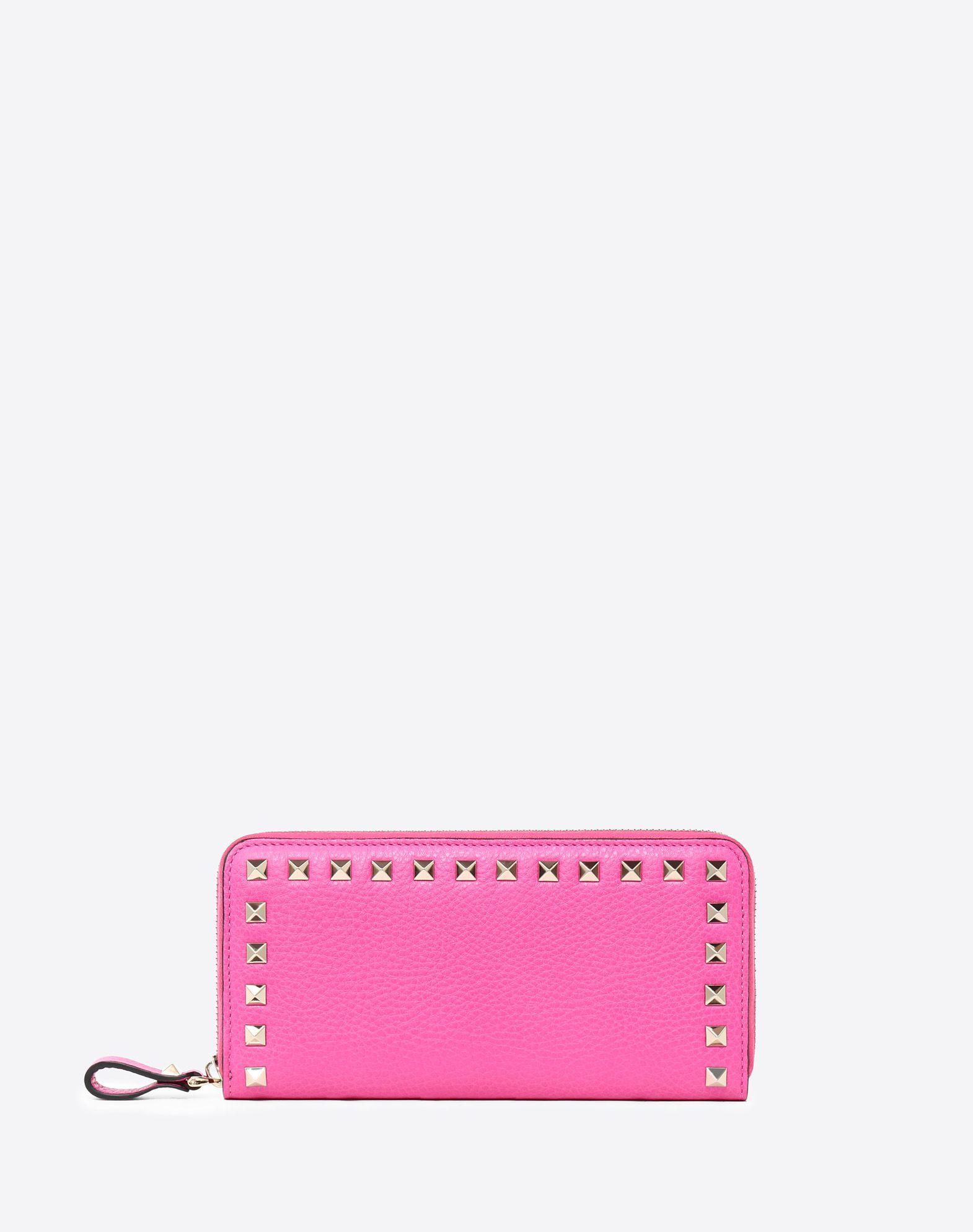 VALENTINO GARAVANI Rockstud Zipped Wallet ZIP AROUND WALLETS D f