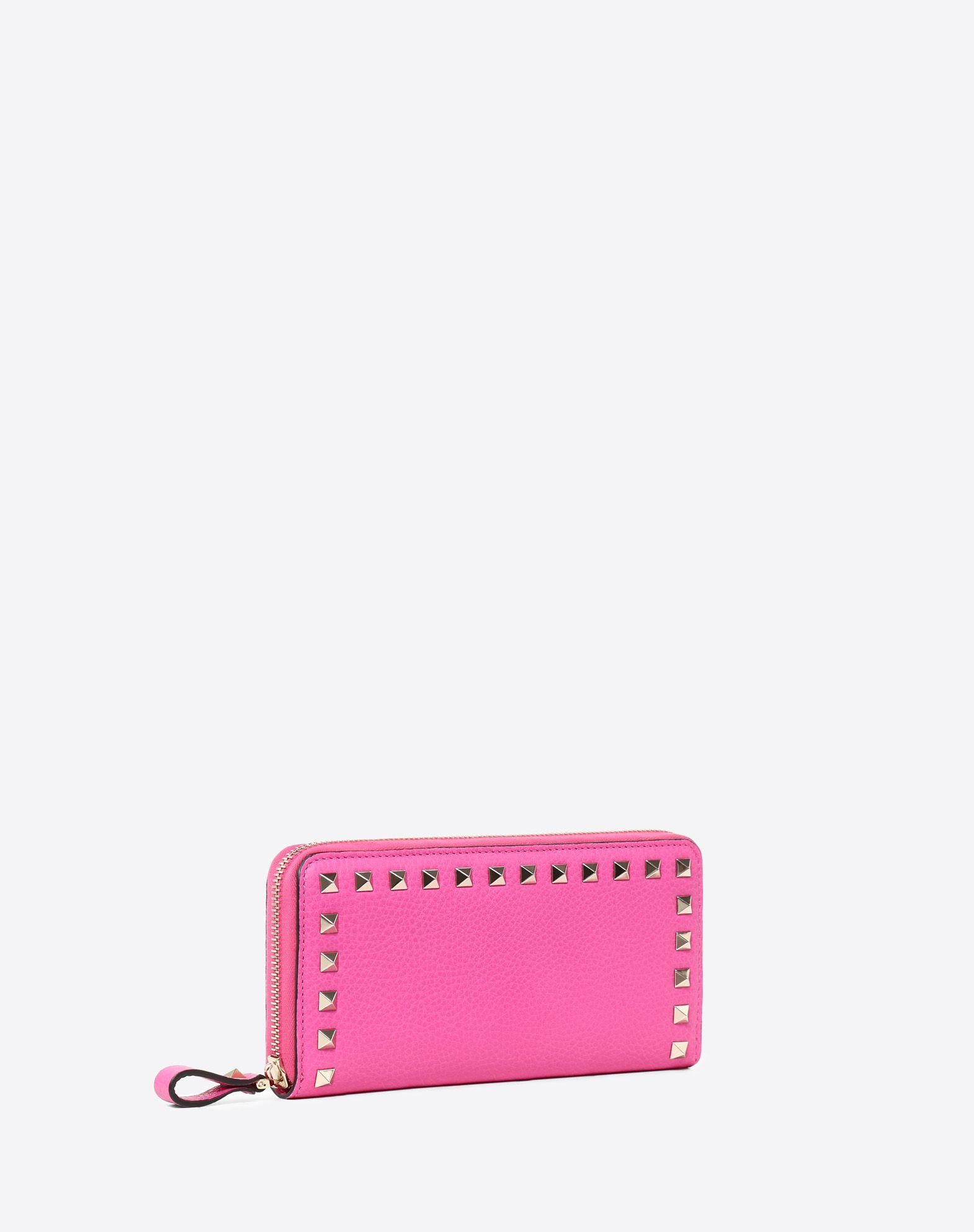 VALENTINO GARAVANI Rockstud Zipped Wallet ZIP AROUND WALLETS D r