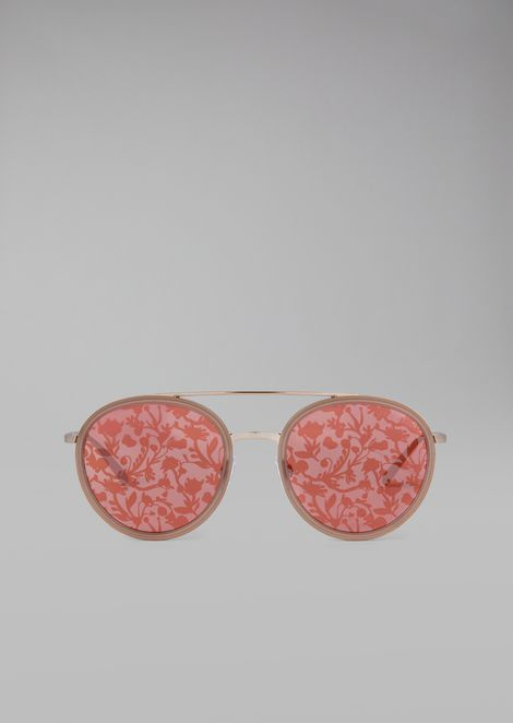 Sunglasses with floral print lenses