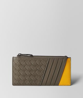 STEEL/SUNSET INTRECCIATO NAPPA CARD CASE